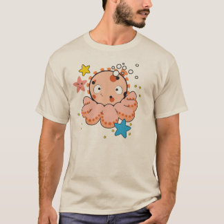 Men's Basic T-Shirt with cool octopus