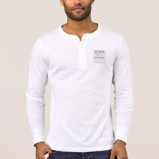 Men's Bella+Canvas Henley Long Sleeve Shirt- Doer. T-Shirt