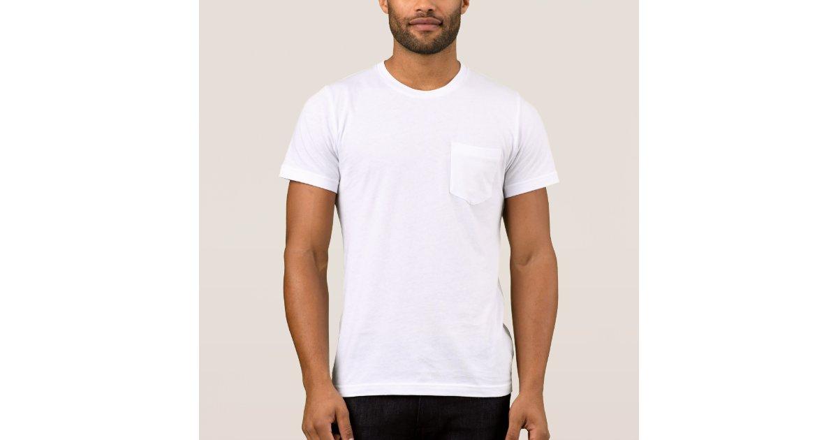 Men 39 s bella canvas pocket t shirt zazzle for Zazzle t shirt template