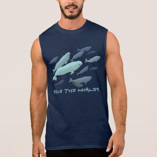 Men's Beluga Tank Top Beluga Whale Muscle Shirt