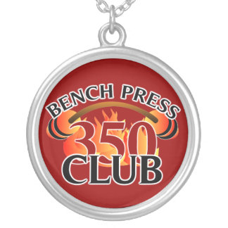 Mens Bench Press 350 Club Weightlifting Necklace