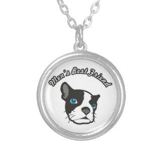Men's Best Friend Round Pendant Necklace