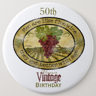 Mens Birthday Humor Button
