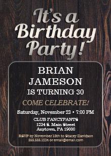 Mens 65th Birthday Invitations Zazzle