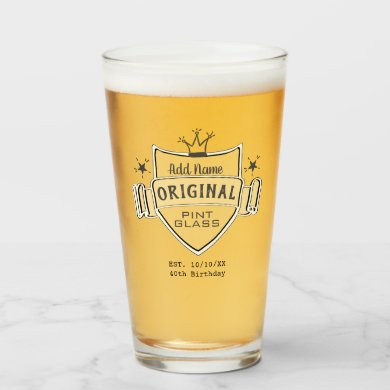 Men's BIRTHDAY Personalized (ADD NAME) PINT GLASS