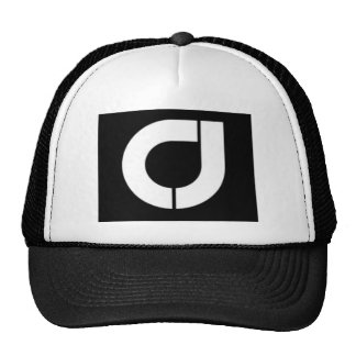 Mens Black and white Trucker Cap with CJ Logo Trucker Hat