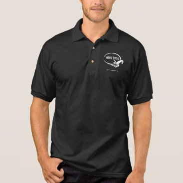 Professional Business Men's Black Business Polo Shirt with Custom Logo