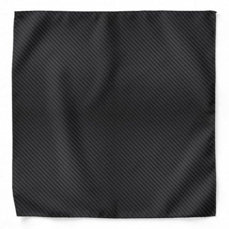 Men's Black Carbon Fiber Look Bandana