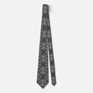 Men's Black Damask Tie