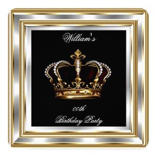 Men's Black Gold Silver Birthday Prince King 2 Card