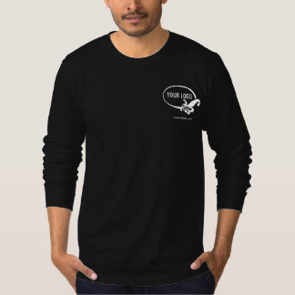 Men's Black Long Sleeve Shirt Uniform Company Logo