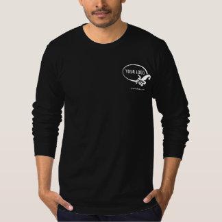 Men's Black Long Sleeve Shirt with Custom Logo