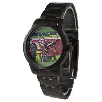 Men's Black Stainless steel Tractor watch