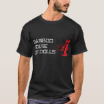 """Men&#39;s black t-shirt<br><div class=""""desc"""">The official t-shirt from Sandman Slim's favorite bar. Stark had to steal his,  but now you can get yours without going to Hell and back. Guaranteed NOT bullet or Hellion-proof.</div>"""