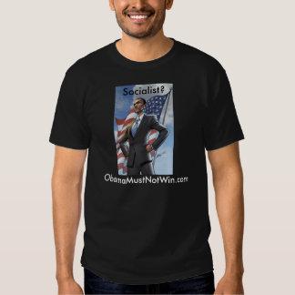 Mens black tshirt; Obamamustnotwin Tee Shirt
