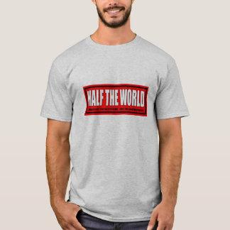 MENS BLACK TWO-FER (RED LOGO) T-Shirt