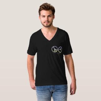 Men's Black V-Neck T-Shirt