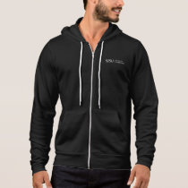 Men's Black/White Jacket - White iSchool logo