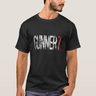 Men's Blk GunnerZ Title Front, WhiteLogo Back T-Shirt