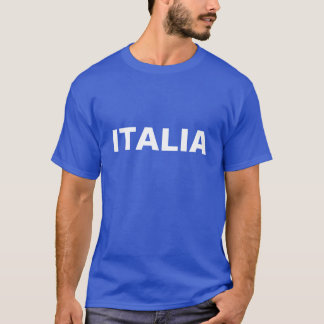 Men's Blue and White ITALIA T-Shirt
