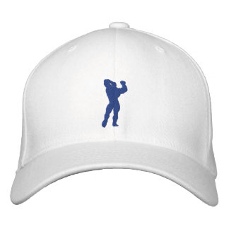 Mens Bodybuilding Pose Embroidered Baseball Cap