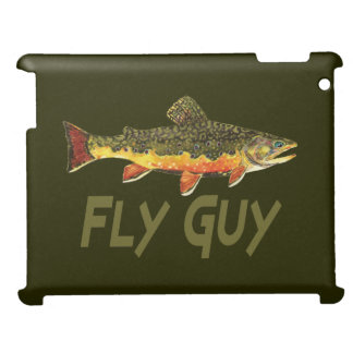 Men's Brook Trout Fly Fishing iPad Case