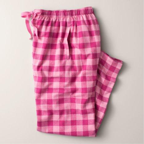 Men's Bubblegum Color Flannel Pajama Pants