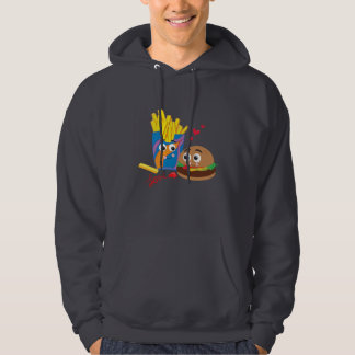 Men's Burger & Fries in Love Hooded Sweatshirt