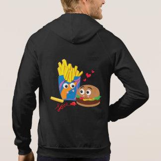 Men's Burger & Fries ZipUp Hooded Sweatshirt