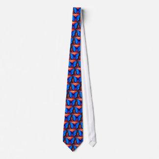 Men's Butterfly Necktie - Blue Print Tie