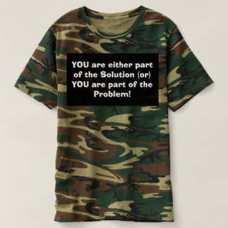 Men's Camo. T-shirt promoting the GOD within!