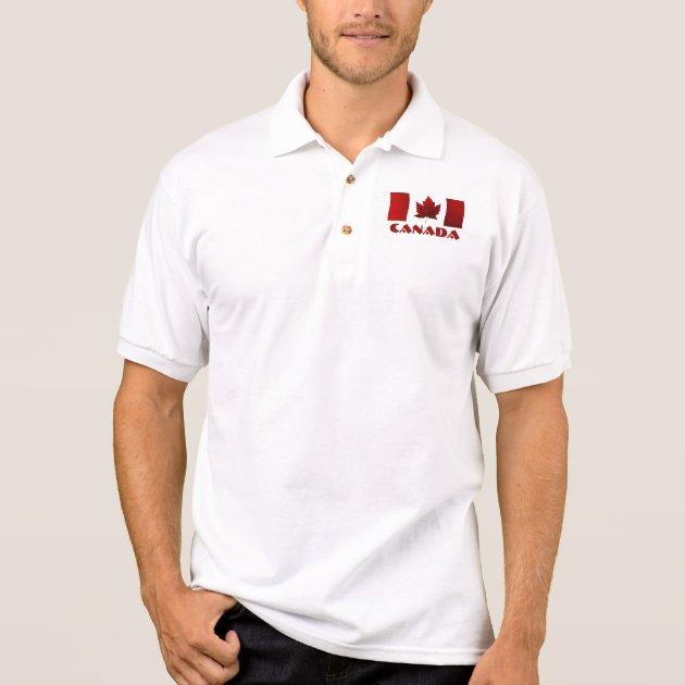 Mens' Canada Flag Polo Shirt Canada Golf Shirt | Zazzle.com
