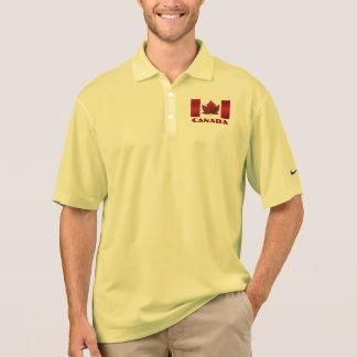 Men's Canada Flag Polo Shirt Canada Golf Shirt