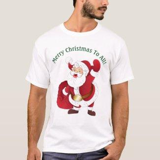 Men's Cartoon Santa T-Shirt