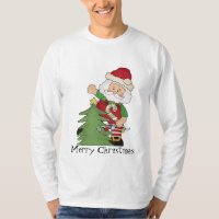 Mens Christmas Santa Holiday t-shirt