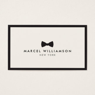 Men's Classic Bow Tie Logo Black/Ivory Business Card