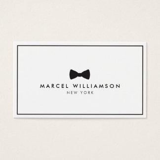 Men's Classic Bow Tie Logo Black/White Business Card