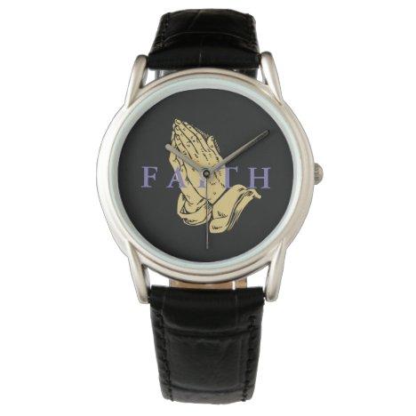Mens Classic Watch-Hands of Prayer Faith Wristwatch