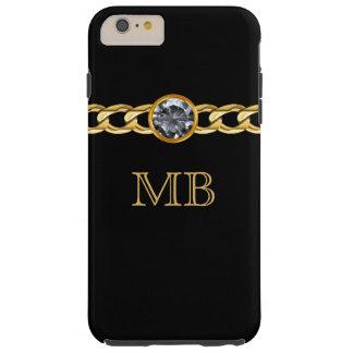 Men's Classy Bling Monogram Tough iPhone 6 Plus Case