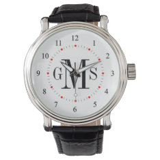 Men's Classy Personalized Monogram Watch at Zazzle