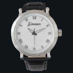 "Men&#39;s Classy Personalized Watch<br><div class=""desc"">Elegant and classy design, with clean and simple customization. These watches are for any man you want to thank, whether it&#39;s brotherly love or everlasting love. Perfect for holidays, thanks yous, groomsmen, and more! Elegant and easy to designs to withstand the changes in fashion, and water resistant to help withstand...</div>"