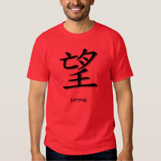 Mens Clothing Chinese Symbol For Hope Tee Shirt