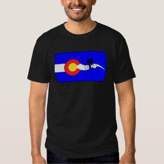 Men's Colorado flag bike t-shirt