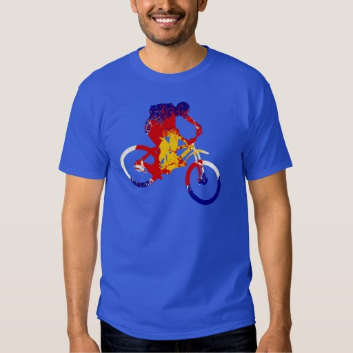 Men's Colorado flag mountain biker Shirts
