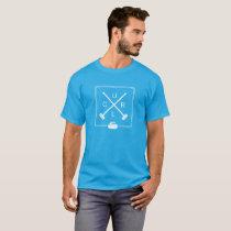 Men's Crossed Brooms Curling T-Shirt