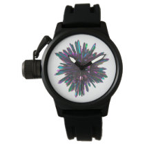 *~* Men's Crystal Sphere Metallic Blue Purple Watch