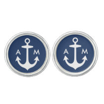 Men's Cufflinks | Anchor Monogram Design