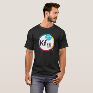 Mens Dark Cotton T-Shirt with KFSSI Logo