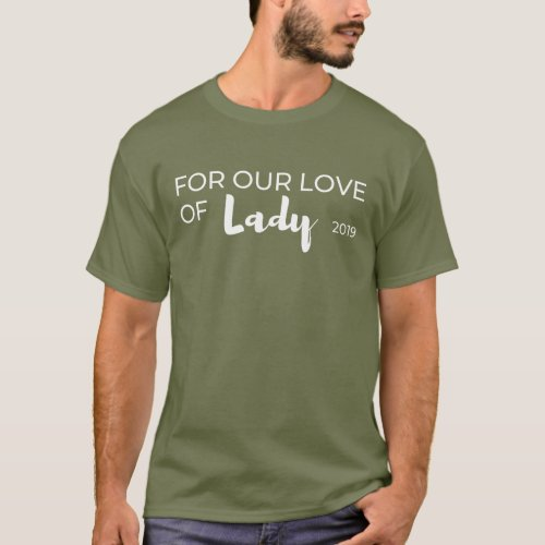 Mens dark For Our Love of Lady Rescue tee