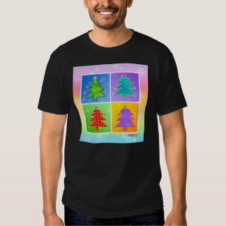 Men's Dark T-shirts - Pop Art Christmas Trees
